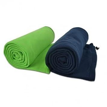 Alta calidad al aire libre Ultraligero Fleece Liner Saco de dormir del estilo del sobre - Green: Amazon.es: Deportes y aire libre