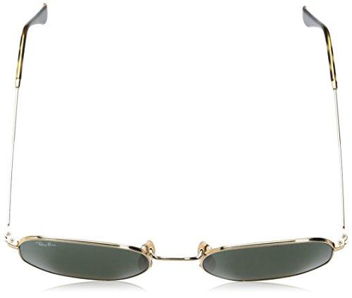 Da Lente 51 Rb3548n Esagonale ban Occhiali Ray gold In Oro Sole Verde Piatta 001 wI7gxEqA