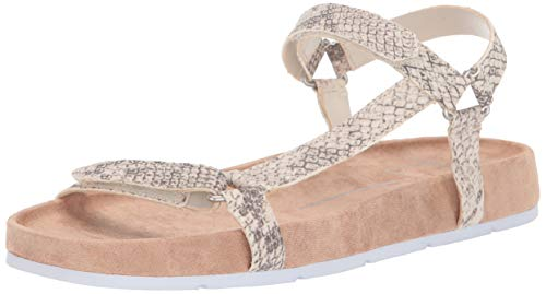 Dolce Vita Women's Colm Sport Sandal, Snake Print Embossed Leather, 8.5 M US