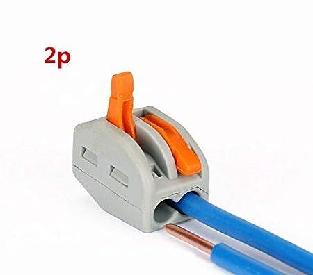 Wago 222 Lot de 10 connecteurs /à ressort r/éutilisables 2//3//4//5//8