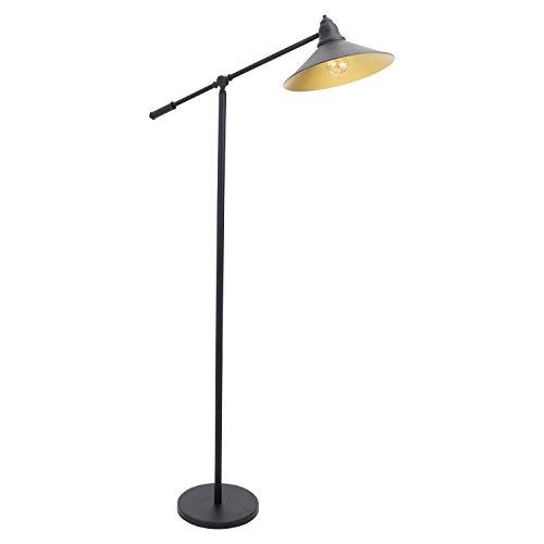Lumisource Black Floor Lamp (WOYBR LS-L-PADFL BK Metal Material, Paddy Floor Lamp)