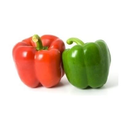 HeirloomSupplySuccess 30 Heirloom Red and Green Sweet Bell Pepper Seeds: Everything Else
