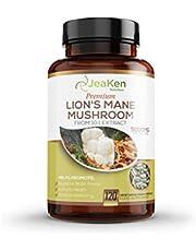 LIONS MANE MUSHROOM CAPSULES - Hjärntillskott för kognitiv hjärnkraft - 5000 mg per servering av Nootropics-tillskott och immunförstärkningstillskott från 10: 1-extrakt - 120 Vegankapslar