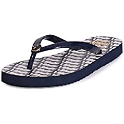 TB Thin Flip Flop Sandals in Tory Navy Wild Cat 8