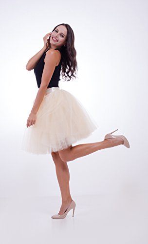 Underskirt Beige Donna Balletto Slip Scfl Tutu Gonna Petticoat Half Wz1nBp8