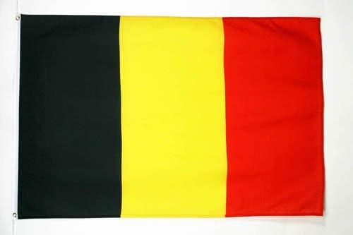 Drapeau Belgique étendard Belge 150 x 90 cm Déco Fête Football en Polyester