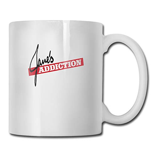 JeCollinsff Funny Jane's Addiction Mug Tea Mugs Coffee Mug For Office And Home Friends Perfect Gifts 11 Oz White Ceramic Mug