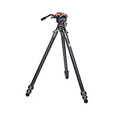Image of 3 Legged Thing Legends Mike Carbon Fibre Leveling Base Tripod with AirHed Cine and Standard Video Plate