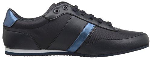 Hugo Boss Boss Green Heren Aansteker Low Profile Coated Canvas Sneaker Donkerblauw
