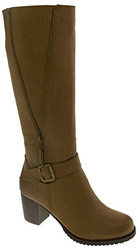 Donna Stivali Brown Dettaglio Studio Cerniera Betsy Camoscio Footwear Finto xf0Eq477w