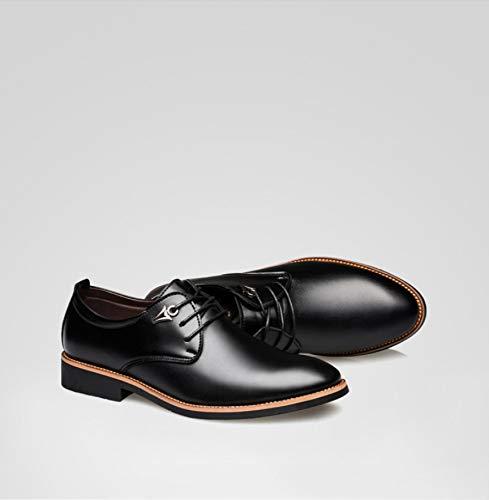 uomo WFL giovent vestito in scarpe Scarpe pelle uomo pelle hollow da in nera da estivo qqEBfF