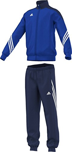 adidas Unisex - Kinder Trainingsanzug Sereno14, Top:cobalt/new navy/white Bottom:dark blue/white, 152, F49716