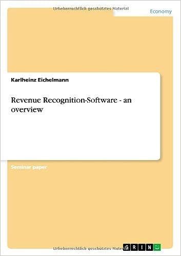 Revenue Recognition-Software - an overview by Karlheinz Eichelmann (2013-11-25)