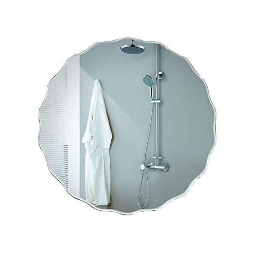 SYLJ Mirror-Bathroom Wall-Mounted washbasin, 20-inch Frameless Oval Shaving Mirror, Vanity Mirror (Wall Mounted Washbasin)