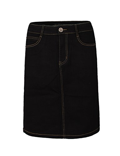 Fraternel donna Jeans Nero di gonna used stretch rqAgratwx