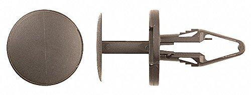 Keyhole Push In Rivet, Nylon, 6.5mm Dia, 20mm L, 6.5mm, Black