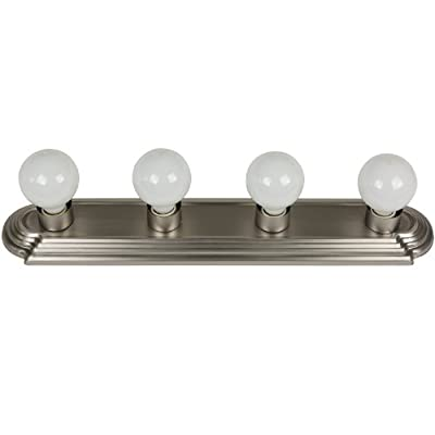 Sunlite Bathroom Vanity Light Fixture Globe Style Wall Fixture Lights Brushed Nickel Finish