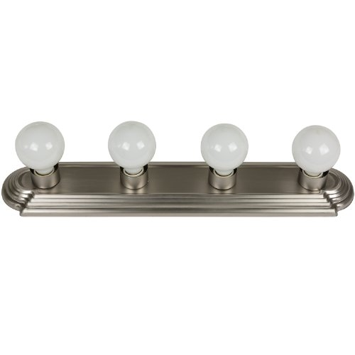 Sunlite B424/BN 24-Inch 4-Bulb Bathroom Vanity Wall Fixture, Brushed Nickel Finish