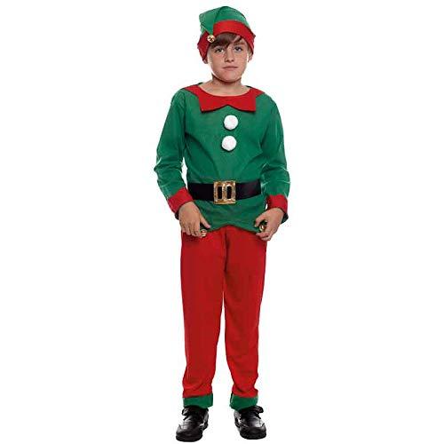 Disfraz de Elfo niño infantil para Navidad (7-9 años): Amazon.es ...