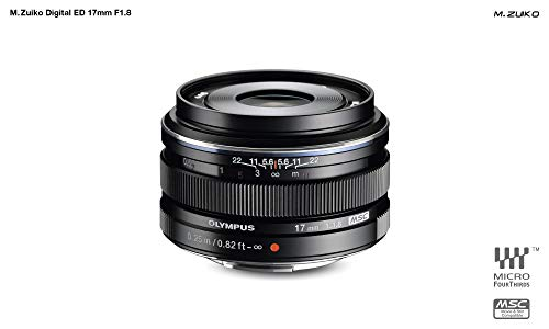 Olympus M.Zuiko 17mm f1.8 (Black) for Olympus and Panasonic Micro 4/3 Cameras - International Version (No Warranty)