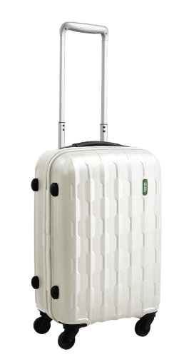 lojel-arrowhead-polycarbonate-carry-on-upright-spinner-luggage-off-white-one-size