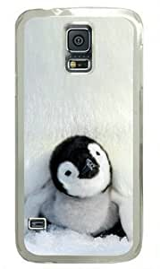Baby Penguin Samsung Galaxy S5 i9600 Hard Shell with Transparent Edges Cover Case by Lilyshouse