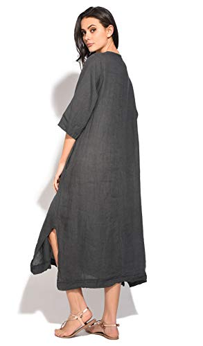 Anthracite Robe Femme 100 100 Lin 100 Robe Lin Femme Anthracite n1I4WPqPa