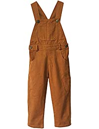 Boys' Brown Bib Overall Size 3T-10
