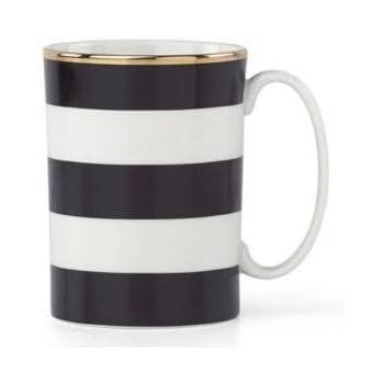 kate spade new york Everdone Lane Black Stripe Mug by Lenox