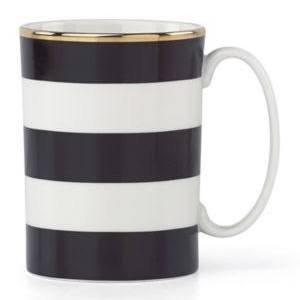 Wickford Mug - kate spade new york Everdone Lane Black Stripe Mug by Lenox