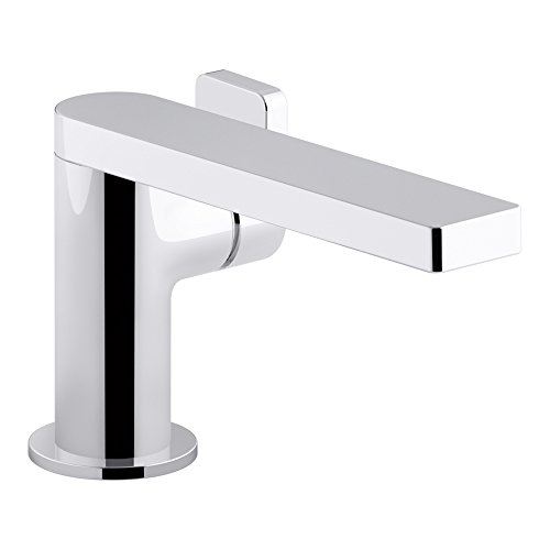 KOHLER K-73167-4-CP Composed Single-Handle Bathroom Sink Faucet with Lever Handle, Polished Chrome by Kohler