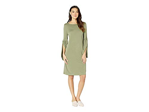 Tribal Women's Textured Knit Bell Sleeve Dress Sage XX-Large