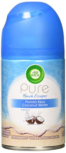 Air Wick Pure Freshmatic Refill Automatic Spray, Pure Florida Keys Coconut Water, 1ct, Air Freshener, Essential Oil, Odor Neutralization, Packaging May Vary ()