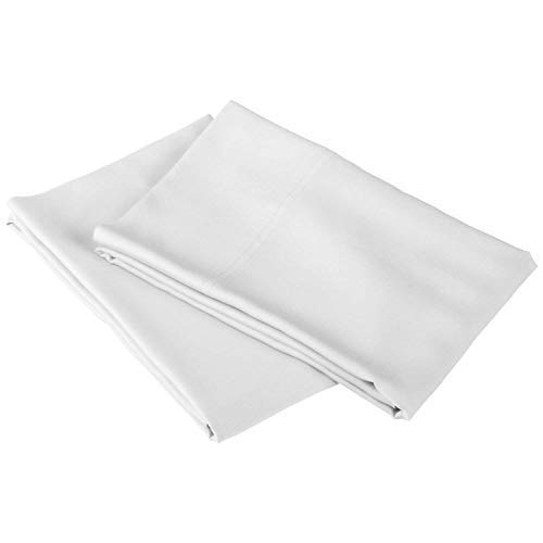 Real 800 Thread Count Set of Pair Pillow Covers Solid (King, White) $11.99
