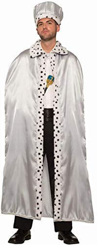 Forum Novelties Royal King Cape for Adults, Silver