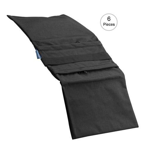 Flashpoint Empty Saddle Sandbag, Water-Resistant Cordura Nylon - (35 lb Capacity, Black) (6 Pack)