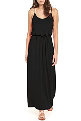 FAVALIVE Women's Sleeveless Casual Loose Plain Maxi Elegant Long Dresses