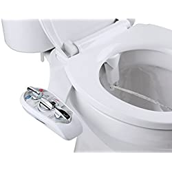 Superior Bidet Supreme - Dual Nozzle Design For Front and Rear Cleaning - Hot and Cold White Bidet Attachment - Adjustable Nozzles Adapt To Any Body Type For Easy Cleaning