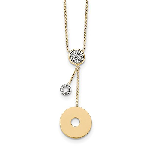 14k Yellow Gold Diamond Circles Chain Necklace Pendant Charm Fine Jewelry Gifts For Women For Her