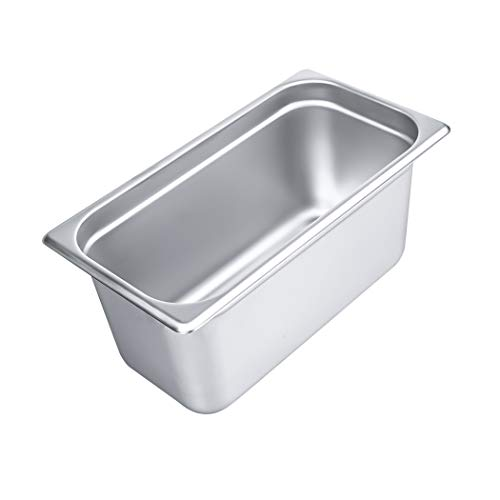 """Used, 6"""" Deep Steam Table Pan 1/3 Size, 6.1 Quart Stainless for sale  Delivered anywhere in USA"""