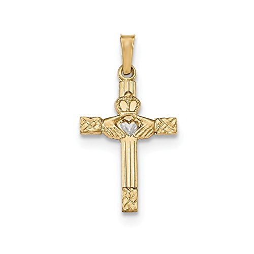 ICE CARATS 14kt Yellow Gold Irish Claddagh Celtic Knot Cross Religious Pendant Charm Necklace Fine Jewelry Ideal Gifts For Women Gift Set From Heart 14kt Gold Celtic Cross Pendant