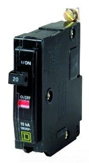 Square D Amp Single Circuit Pole Breaker Qob120  By Hd Supply
