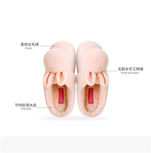 Cotone Pantofole Da Coniglio Donna Confortevole Fondo E Coniglietto Peluche In Gray Carino Lcycn Spesso Antiscivolo Con Caldo PdUqxBW5