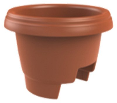 picture of Fiskars Pottery 477121-1001 Deck Rail Planter, Clay, 12-In. - Quantity 10