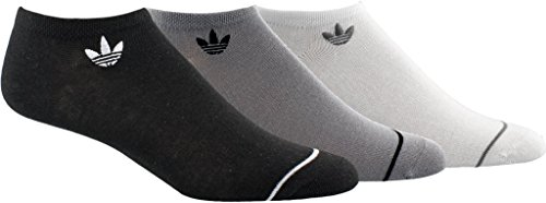 Climacool No Show Sock - adidas Women's Originals No Show Sock (3 Pack), Medium, Black/Light Onix/White