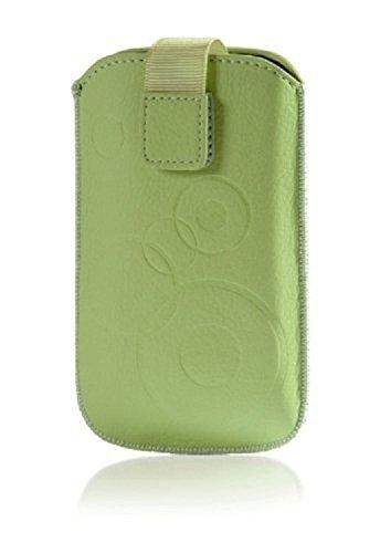 """Handytasche Circle creme-grün passend für """"Apple Iphone 6/6s"""" Handy Schutz Hülle Slim Case Cover Etui mit Klettverschluss"""