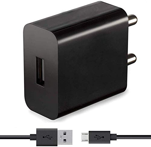 Hengary Fast Charger Adapter for Samsung Galaxy J5 2017  2 Ampere, Black