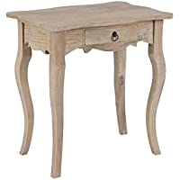 East at Main Benton Brown Rubber wood Rectangle Storage Accent Table, (26x18x26)