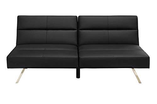 le Futon Couch, Black Faux Leather ()