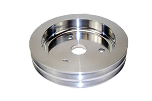 SBC Chevy 283-350 Machined Aluminum SWP Double Groove Crankshaft (Groove Crankshaft Pulley)